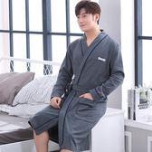 春秋季睡袍男士純棉日式浴衣和服男款長袍潮秋冬季秋冬款浴袍睡衣