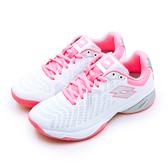 LIKA夢 LOTTO 進階旗艦網球鞋 SPACE 400 ALR系列 白螢粉 2107421NZ 女