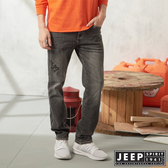 【JEEP】美式經典休閒刷色直筒牛仔褲 (灰)