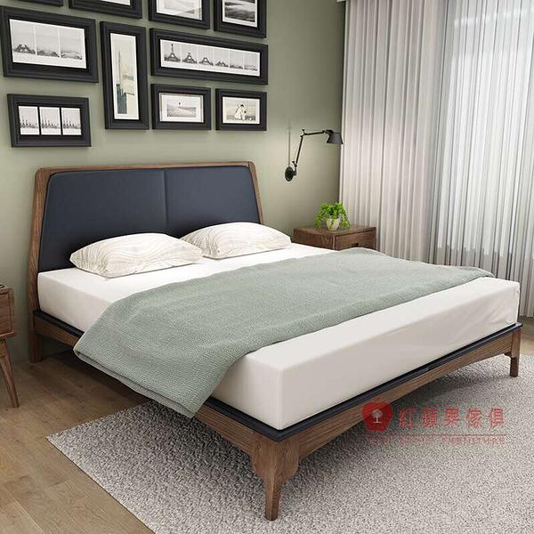 [紅蘋果傢俱] C-005 日式床架 白蠟木床台 全實木 床頭櫃