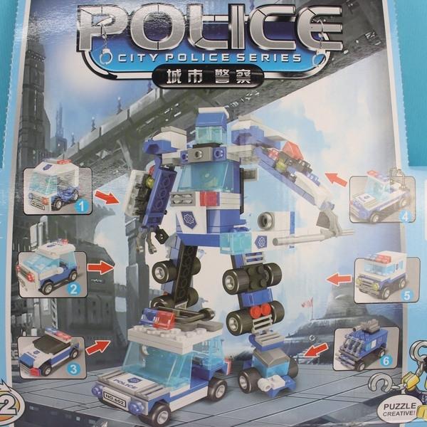 星樂扭蛋積木 SM602A 城市警察扭蛋積木(共有六款)/一款入{促70} DIY益智積木-鑫-睿SM602A