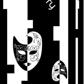 *阿亮單車* SPORTY司普堤 Classical全彩魔幻頭巾_女黑白面具 C0641