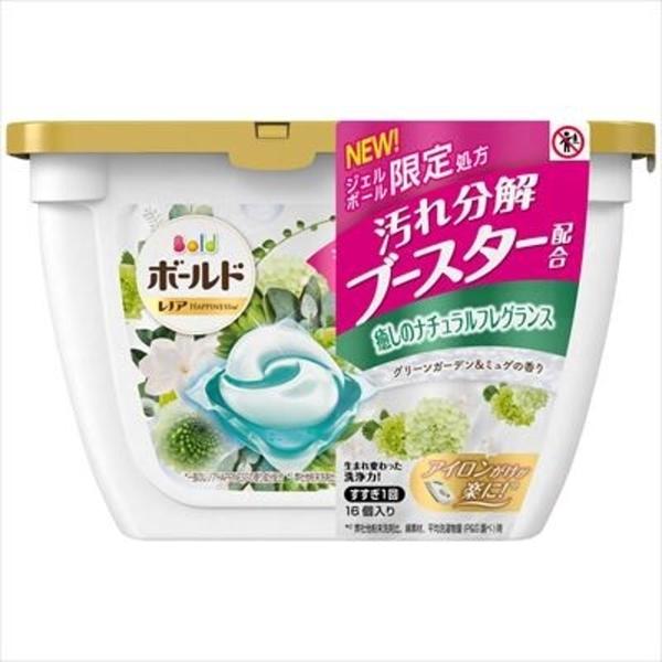 【日本製】【P&G】Bold 洗衣凝膠球3D立體 膠囊 洗衣精 本體 16顆入 微風森林香 SD-2649 - P&G
