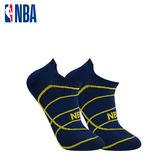 NBA 船襪 MIT 運動配件 籃球緹花船襪 (丈青/黃)