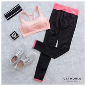 Catworld 螢光色腰頭彈力運動褲【12001873】‧XS-L