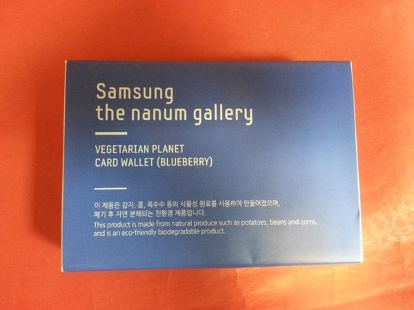 316003#Samsung 皮夾 藍色款#錢包 the nanum gallery 韓貨