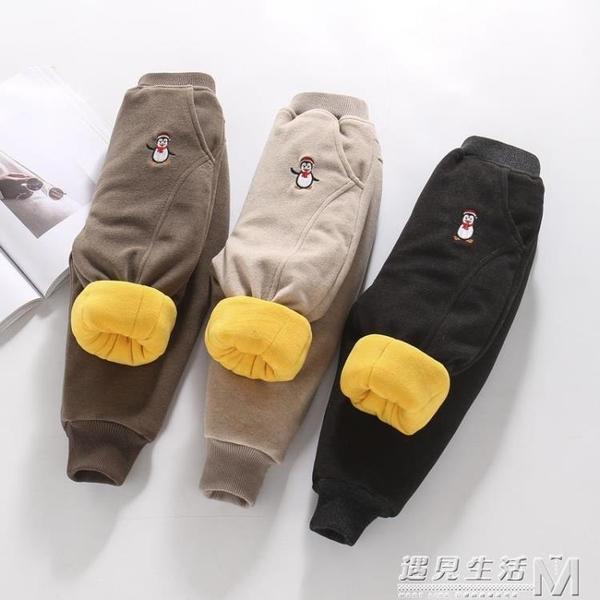 男童加絨加厚褲子一條過冬2外穿3小童4冬季5三層夾棉寶寶保暖棉褲 雙十二全館免運