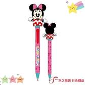【京之物語】現貨-日本迪士尼米妮搖頭造型黑色圓珠筆