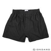 【GIORDANO】男裝高品味沈穩條紋配色四角褲-32 黑灰條紋