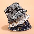 漁夫帽 帽子女夏天日系文藝遮陽帽韓版百搭漁夫帽男潮可折疊雙面盆帽