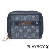 PLAYBOY- Bunny Club 小兔俱樂部系列 風琴式零錢包-金屬灰