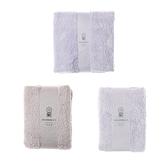 HOLA 極超細纖維素色抗菌方毛浴巾組-粉紫