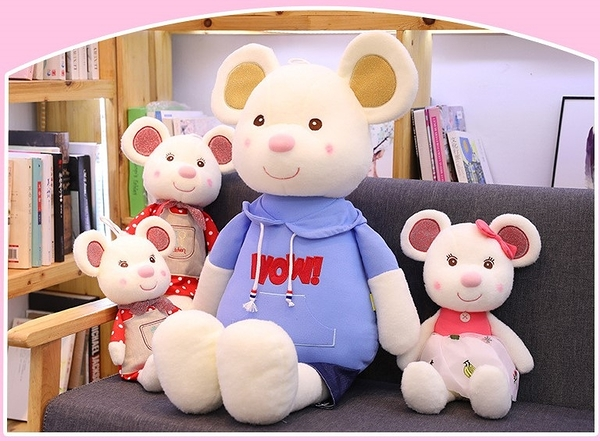 【80公分】可愛鼠抱枕 絨毛娃娃 聖誕禮物交換禮物 生日送禮 療癒小物 夾娃娃機 鼠年行大運