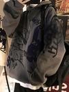衛衣男 衛衣秋冬款加絨加厚連帽潮ins嘻哈寬鬆bf港風潮流青少年外套【快速出貨】【快速出貨】
