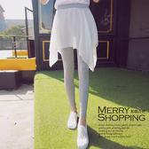 假兩件式內搭褲 輕薄雪紡裙+莫代爾九分內搭褲 -媚儷香檳- 【L121】