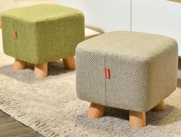 實木小凳子時尚小板凳創意沙發凳布藝矮凳家用茶幾凳換鞋凳