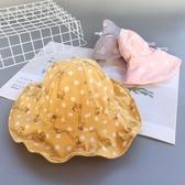大小可調節春夏嬰兒帽子薄款漁夫帽大帽檐女寶寶遮陽帽盆帽秋