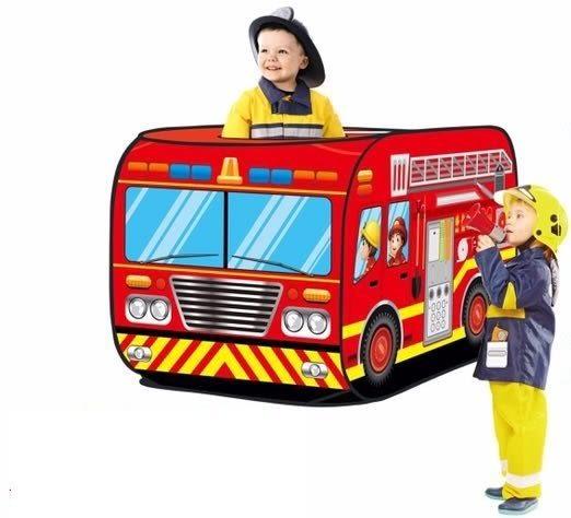 *粉粉寶貝玩具*消防小隊巴士球屋~酷炫消防車遊戲帳篷球屋~