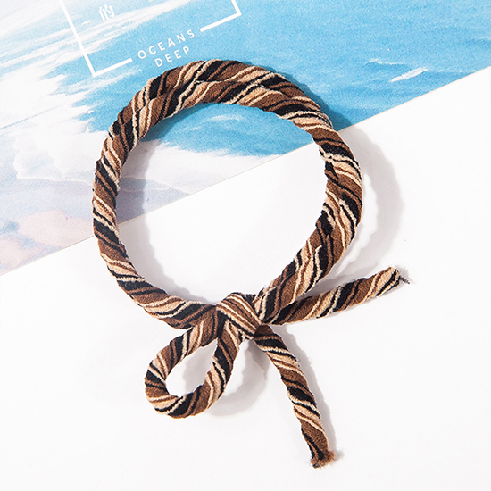 彈性髮圈 多色 髮繩 綁頭髮 紮頭髮 飾品 批發 手繩 素色 韓版 撞色打結髮圈(1入) 【Z223】MY COLOR