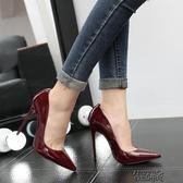 大碼高跟鞋高跟鞋細跟尖頭變裝情趣白領鞋OL空姐女單鞋婚鞋  【快速出貨】