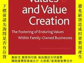 二手書博民逛書店Family罕見Values And Value Creation: The Fostering Of Endur
