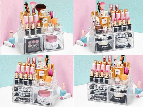 【DT髮品】壓克力 化妝品收納盒 彩妝化妝盒 收納 透明收納架 化妝櫃 彩妝盒 口紅架【0020134】