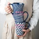 馬克杯 創意浮雕大杯子陶瓷牛奶咖啡杯 敞口水杯情侶辦公室杯 帶勺【匯美優品】