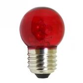 LED 1W專利球型燈泡 -E27 紅光