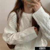 復古點點慵懶風麻花針織毛衣 Z11343【新年免運】