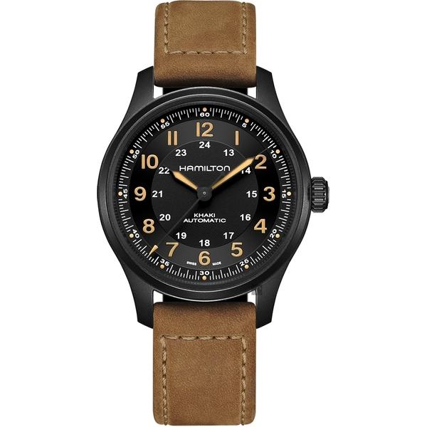 Hamilton 卡其野戰 鈦 飛行員機械錶-42mm(H70665533)