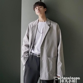 西裝外套秋裝新款西服男夾克ins潮流韓版學院風小西裝文藝風情侶寬鬆外套 非凡小鋪