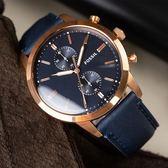 FOSSIL Townsman 高雅風格紳士計時腕錶 FS5436 熱賣中!