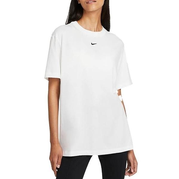 NIKE 短T NSW 白色 刺繡小LOGO 寬鬆 短T 素T 女 (布魯克林) DH4256-100