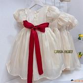 兒童禮服裙女孩連身裙洋裝女童紗裙公主裙【淘嘟嘟】