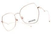 MOLSION 光學眼鏡 MJ7107 B30 (玫瑰金) 復古多邊造型款 #金橘眼鏡