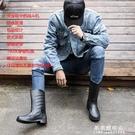 雨鞋 夏季中筒男士時尚雨鞋勞保防水防滑雨靴耐磨耐穿膠鞋一體成型套鞋【果果新品】