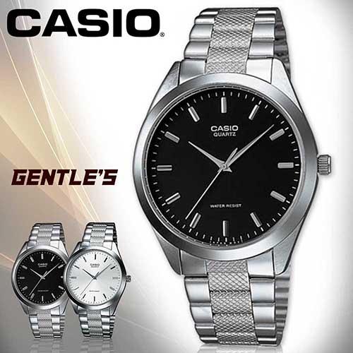 CASIO手錶專賣店 卡西歐  MTP-1274D-1A 男錶  石英 指針 數字 礦物玻璃 三折式不繡鋼錶帶