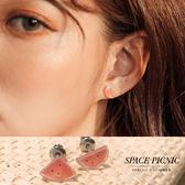 耳環 Space Picnic 不對稱小西瓜耳環(現貨)【C19064002】