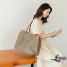 側背包休閒帆布包托特包大容量女包手提包【邻家小鎮】