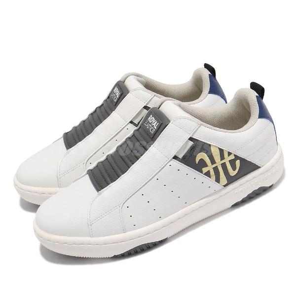 Royal Elastics 休閒鞋 Icon 白 灰 男鞋 懶人鞋 套入式 【ACS】 06512085