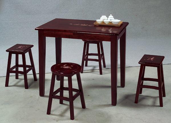 [ 家事達] TMT 鑲貝多功能餐桌椅組 (THV-308+HV-309*2+HV-3119*2)