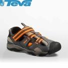 【TEVA 美國 童 Jansen Lea 水陸鞋 灰/橘】110008JDGOR/運動涼鞋/海灘鞋