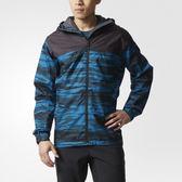 Adidas Wandertag Jacket 男 黑 藍 防水外套 立領 風衣 雨衣 夾克 拼接 愛迪達 連帽外套 AP8340