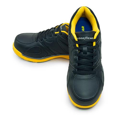 LIKA夢 GOOD YEAR 寬楦鋼頭防護工作鞋 街頭個性風格 黑黃 63904 男