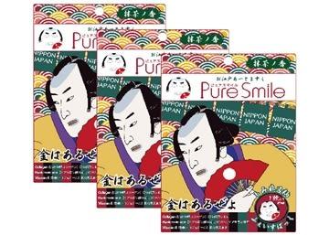 【Pure Smile】 日本江戶面膜 武士 3枚入