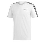 Adidas Essentials 3 男款白黑短袖上衣-NO.DU0441