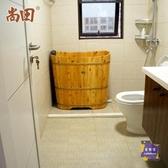 泡澡桶 木桶浴桶泡澡成人家用香柏木全身洗澡桶浴缸沐浴桶精靈T【快速出貨】