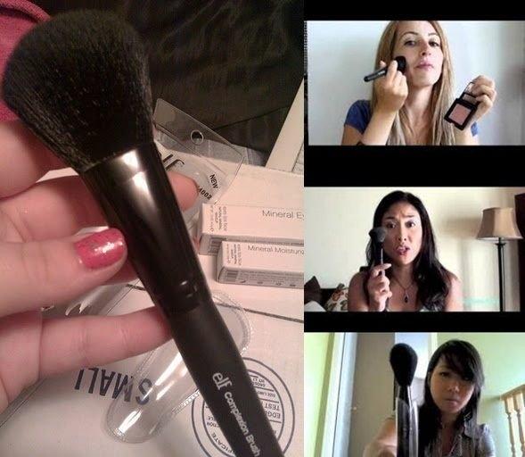 【愛來客 】Youtube達人推薦美國平價品牌ELF多功能蜜粉刷腮紅刷complexion brush (現貨)