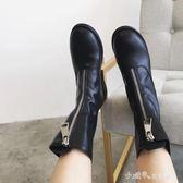春季前拉錬英倫風馬丁靴歐美粗跟女騎士靴復古中筒短靴女 小確幸生活館