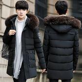 男士棉衣韓版潮流2018新款冬裝羽絨棉服中長款棉襖外套襖子bf大衣